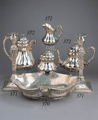 A French silver jardinire with