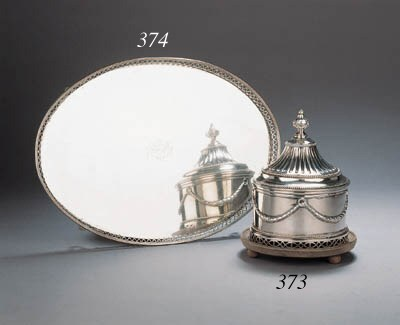 A Dutch silver tobacco pot wit