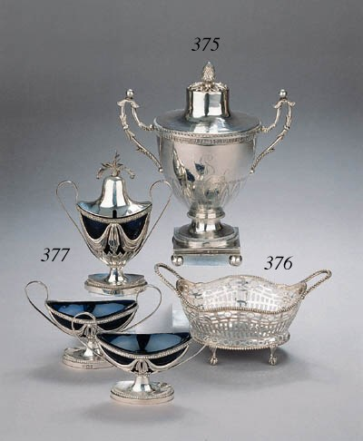 A French silver mustard pot an