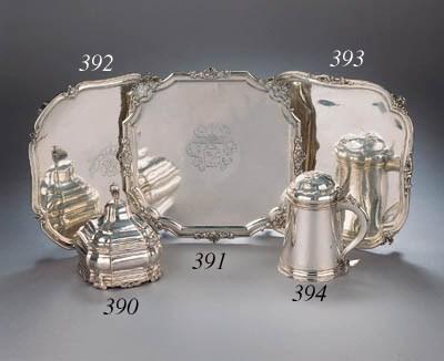 A Dutch silver tobacco pot wit