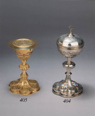 A French silver chalice