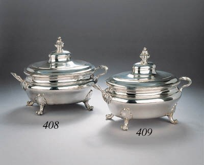A fine Dutch silver tureen