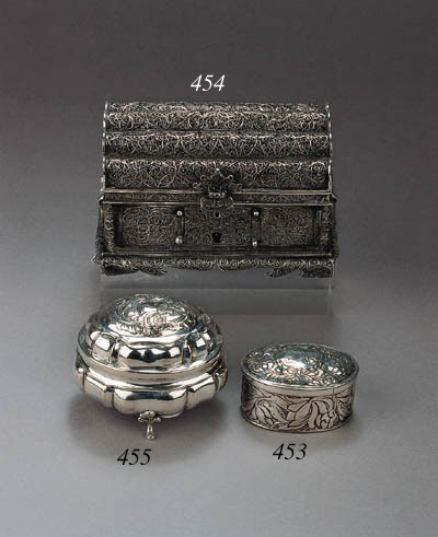 A German silver spice box