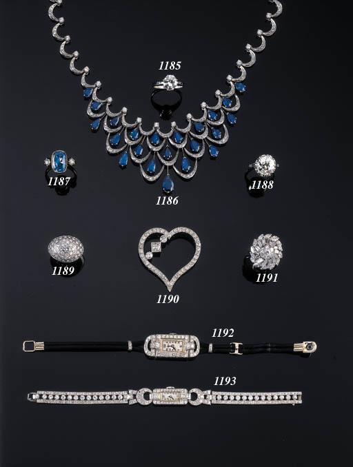 AN ELEGANT DIAMOND HEART-SHAPE