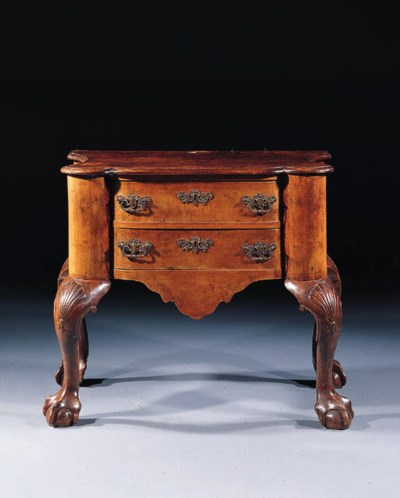A Dutch walnut commode
