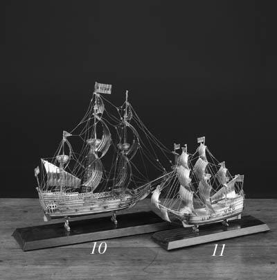 A DUTCH SILVER MINIATURE SHIP