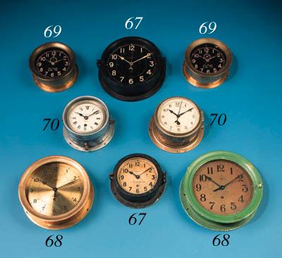 A bulkhead clock by the Chelse