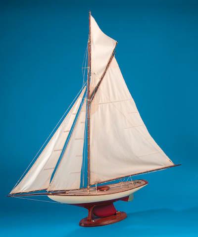 A fine gaff rigged pond yacht