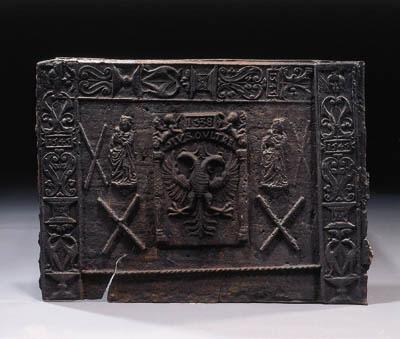 A cast-iron fire plate