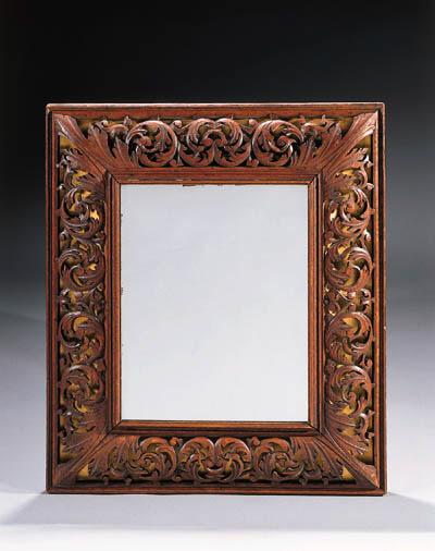An oak mirror