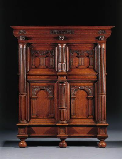 A Dutch oak cupboard