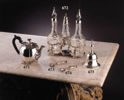 A fine Dutch silver teapot