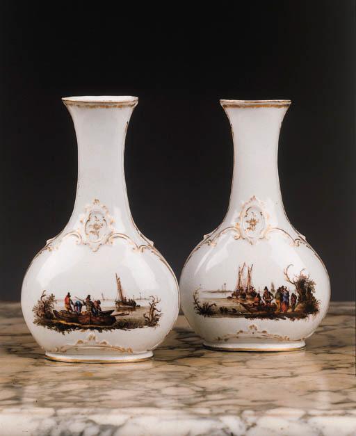 a pair of loosdrecht vases