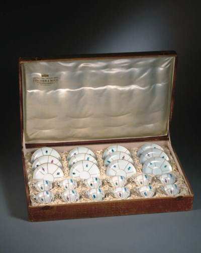 A set of twelve mocca-cups and