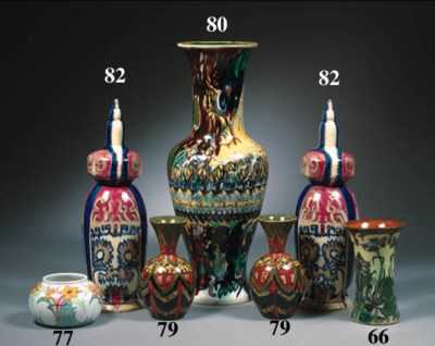 A miniature glazed pot