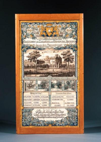 a polychrome commemorative til