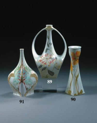 An egg-shell and porcelain vas