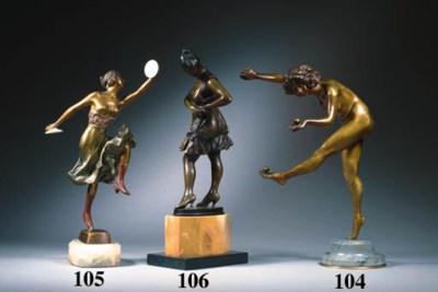'Juggler', A Patinated Bronze