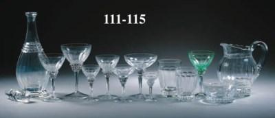a cut-glass part drinking-serv