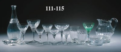 Six cut-glass fingerbowls