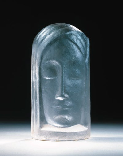 'kp1214', a pressed-glass mask