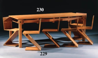 'MILITAIRY TABLE', AN ELMWOOD