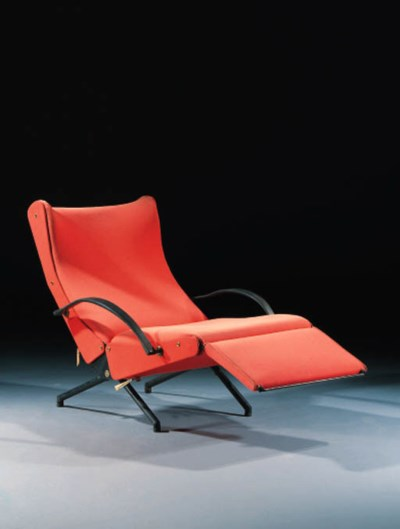 A STEEL LOUNGE CHAIR, MODEL P4
