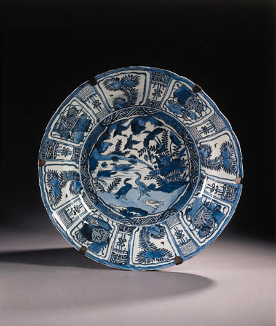 A late Ming blue and white 'Kr