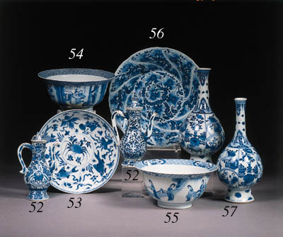 A pair of blue and white caf-a