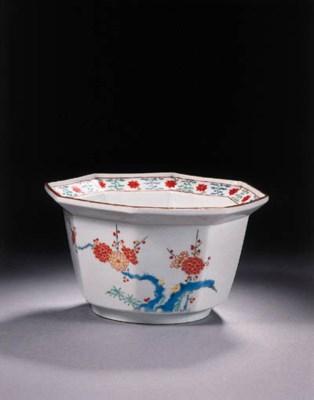 A Kakiemon octagonal bowl