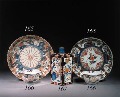 A pair of Imari bowls