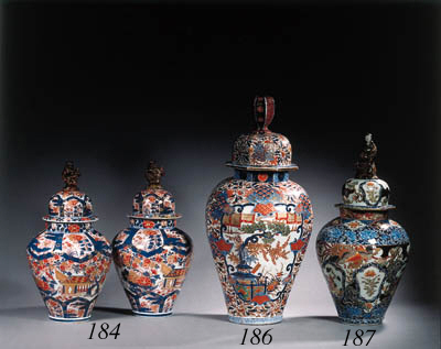 A pair of Samson Imari vases a