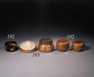 A lacquer koro, a box and cove