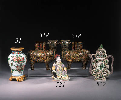 An assorted group of cloisonne