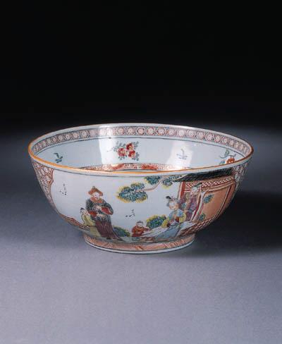 A Dutch decorated 'VOC' bowl