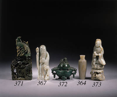 Two jade carvings of Shoulao
