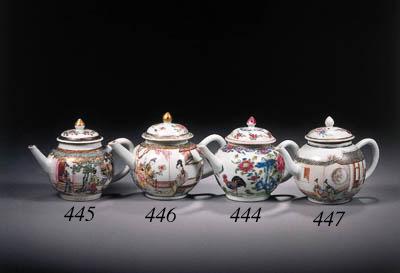 A famille rose globular teapot
