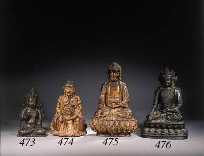 A gilt-bronze figure of Budhha