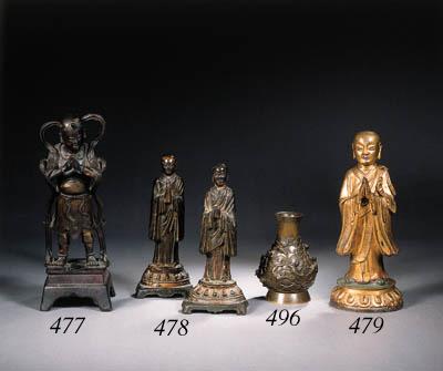 Two bronze figures