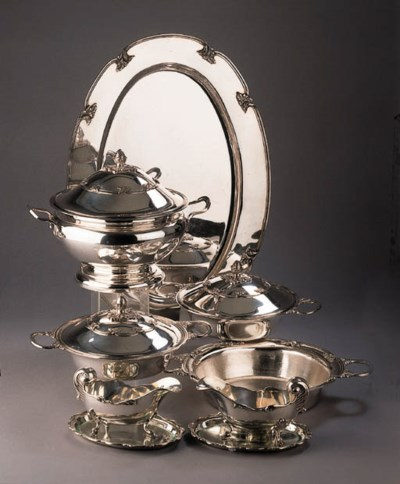 A fine Dutch silver eight piec