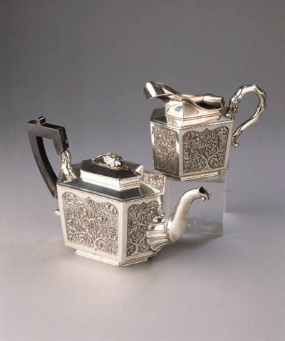 A Dutch silver 'Chinese style'