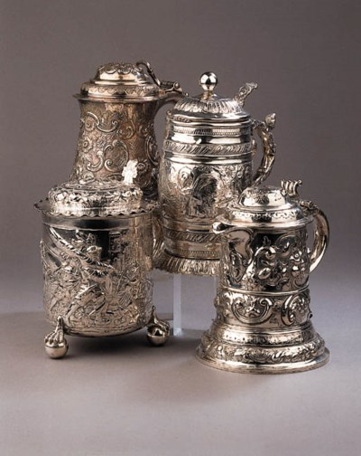 Two English silver and two Ger