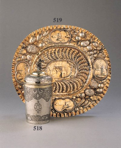 A Baltic parcel-gilt covered b