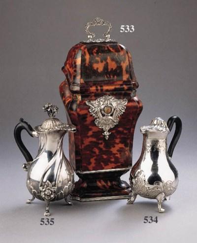 A Dutch silverth hot-milk jug