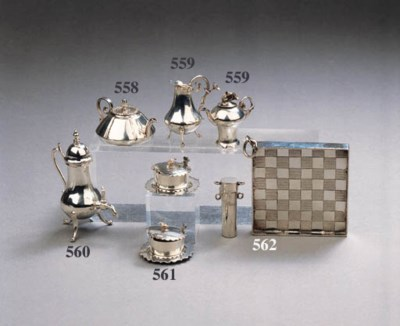 A Dutch silver miniature holde