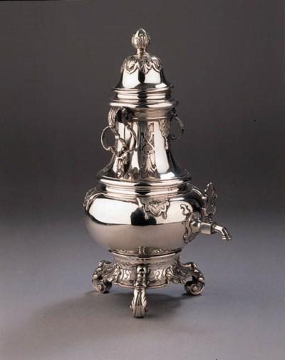 A fine Dutch silver coffee urn