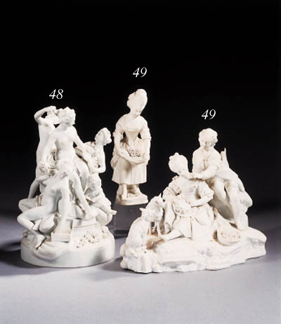 a french biscuit porcelain mythological group