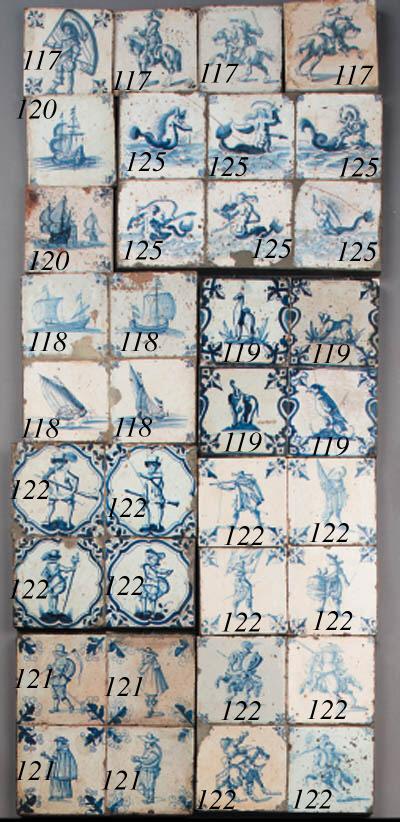 thirteen dutch delft blue and