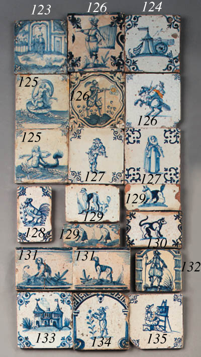 a panel with two dutch delft b