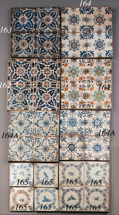 eight haarlem ornamental tiles